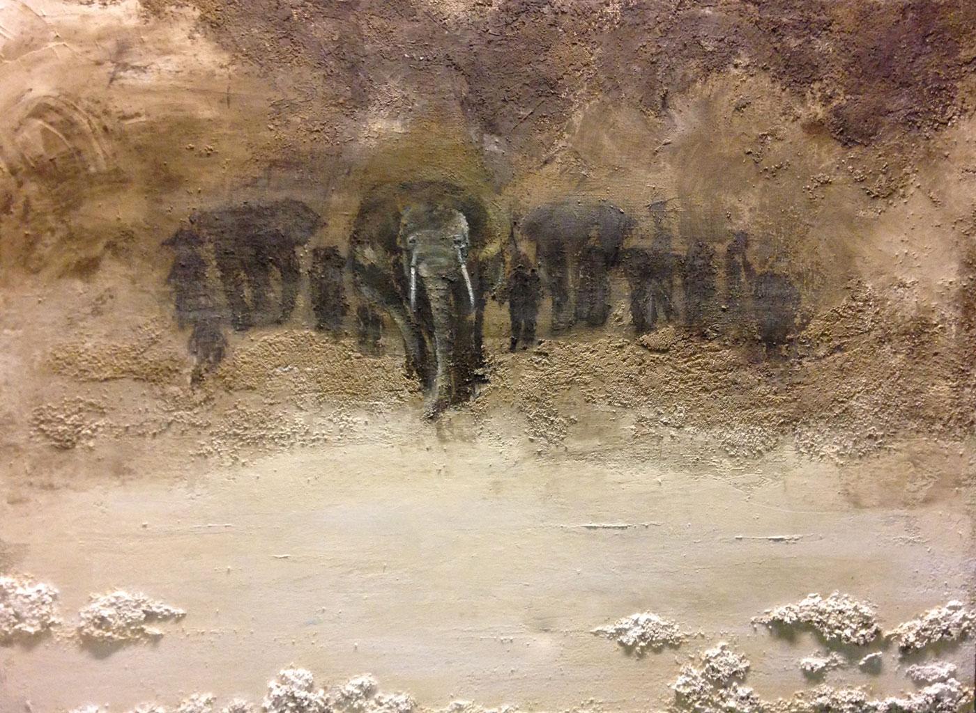 Elephants and peace, Rocío Maldonado