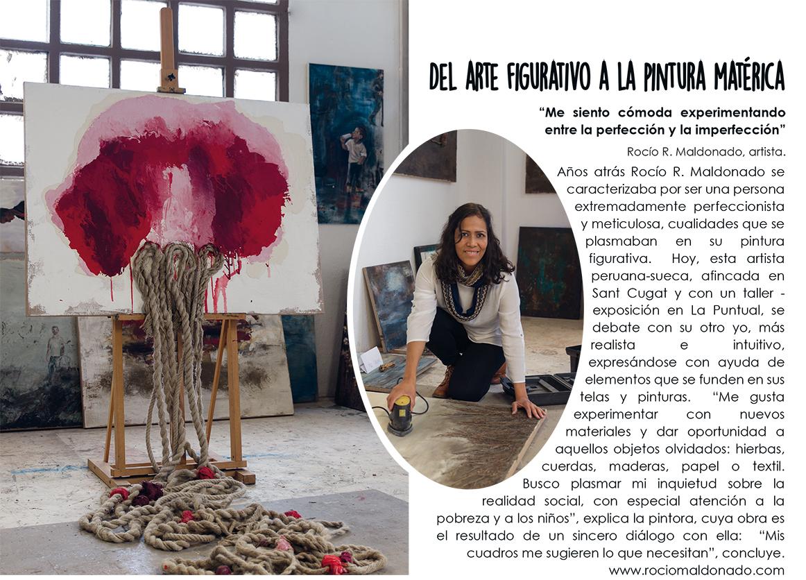 Aparición de la artista Rocío Maldonado en la revista de decoración Flash Deco